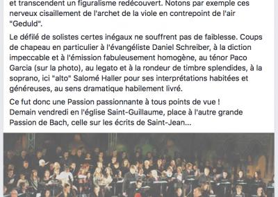 Passion selon Matthieu - On connaît la Musique à Strasbourg
